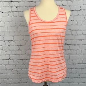 BCG Orange Striped Workout Tank Top Medium